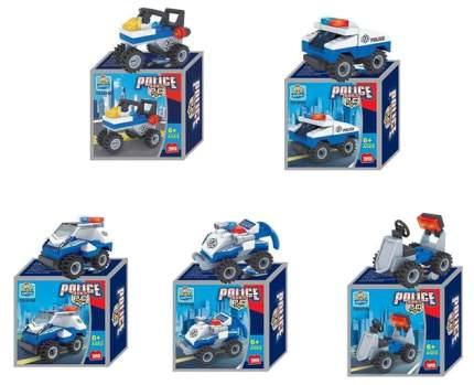 Конструктор пластиковый Junfa Toys Полицейская машина TS10101A-01/05