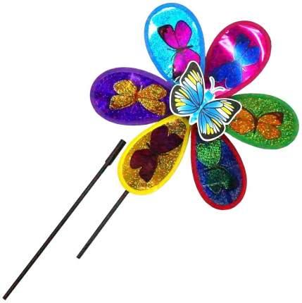 Ветрячок цветок с бабочками голограмма 28 см Shantou Gepai PW28 2