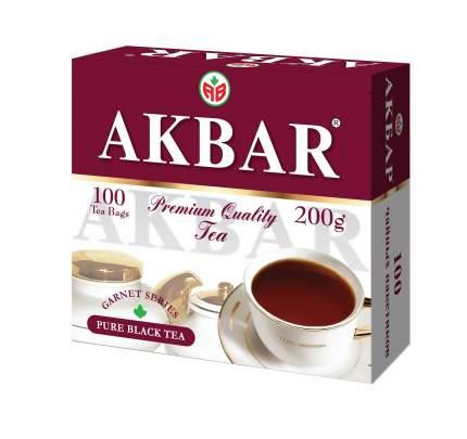 Чай черный в пакетиках для чашки Akbar гранатовая серия 200 г