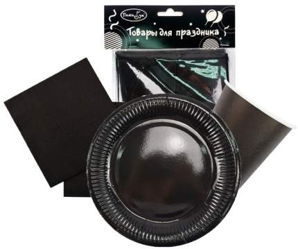 Набор одноразовой посуды  Патибум Black