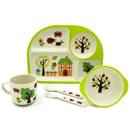 Набор детской бамбуковой посуды Sonvic Летний сад