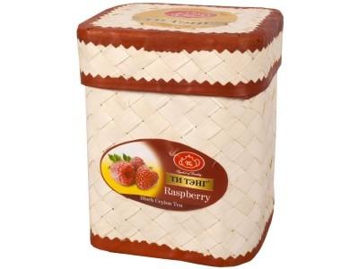 Чай черный Ти Тэнг Raspberry O.P.  в плетенке 100 г