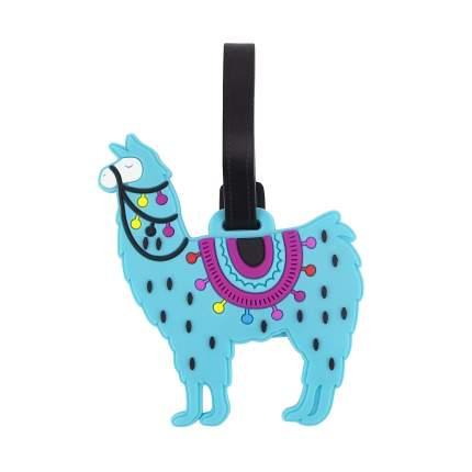 Бирка для багажа Kawaii Factory Mint llama