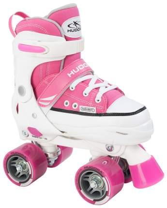 Роликовые коньки раздвижные детские Hudora Roller Skates р. 36-39 Розовые
