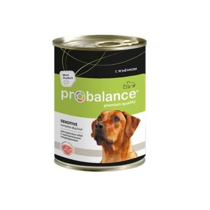Влажный корм для собак Probalance Sensitive c чувств. пищеварением, ягненок, 12шт. по 850г