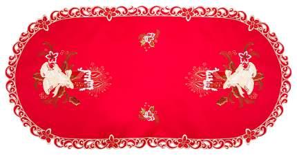 Салфетка SANTALINO Колокольчики на красном 829-139 120x60 см