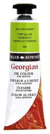 Масляная краска Daler Rowney Georgian зеленый желтоватый 75 мл