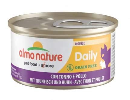 Консервы для кошек Almo Nature Daily курица, тунец, 24шт, 85г