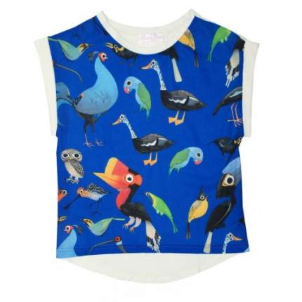 Блузка летняя Bon&Bon Попугаи-пеликаны 581 Р.122
