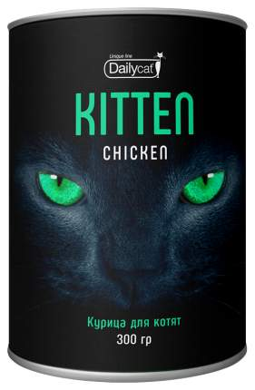 Сухой корм для котят Dailycat Unique line Kitten, курица, 0,3кг