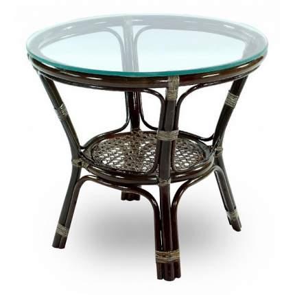 Журнальный стол Экодизайн 90х50х45 см, коричневый/серый