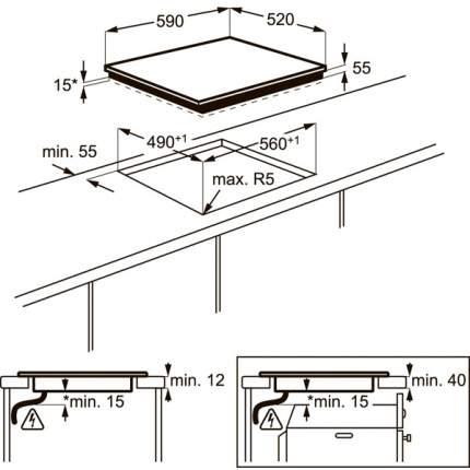 Встраиваемая варочная панель индукционная Electrolux EHI96732FK Black