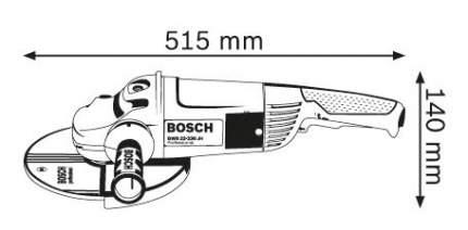 Сетевая угловая шлифовальная машина Bosch GWS 22-230 H 601882103