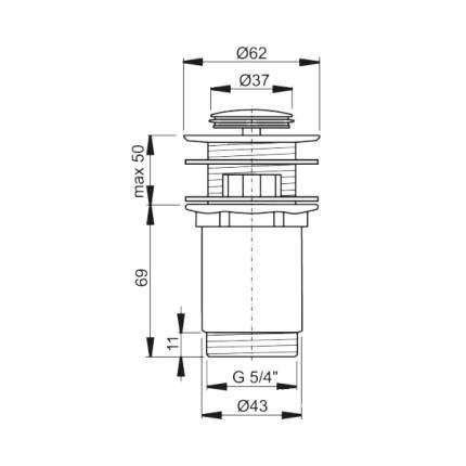 Выпуск для раковины AlcaPlast A394 хром
