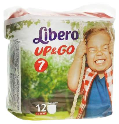 Подгузники-трусики Libero Up&Go XL Plus 7 (16-26 кг), 12 шт.