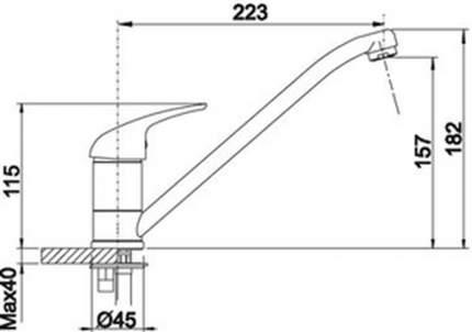 Смеситель для кухонной мойки Blanco DARAS 523288 алюметаллик
