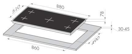 Встраиваемая варочная панель газовая MAUNFELD MGHS 95 72S Silver