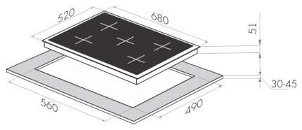 Встраиваемая варочная панель газовая MAUNFELD MGHG 75 13B Black