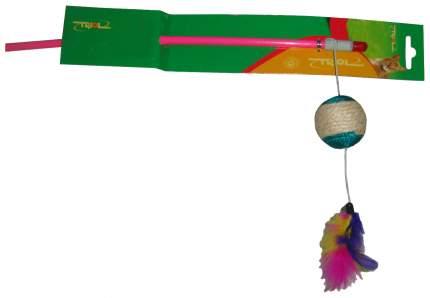 Игрушка для кошек Triol Удочка-дразнилка Шарик с перьями 22121028