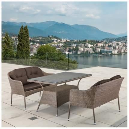Комплект мебели Afina Garden T198B/S54B-W56 Light brown