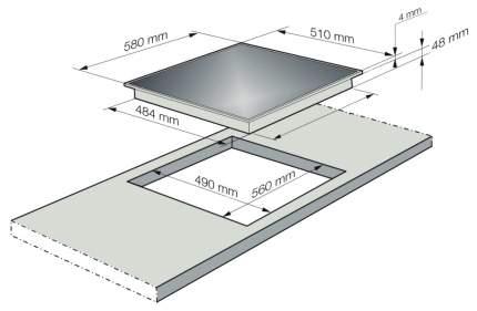 Встраиваемая варочная панель индукционная Korting HI 64021 BW White