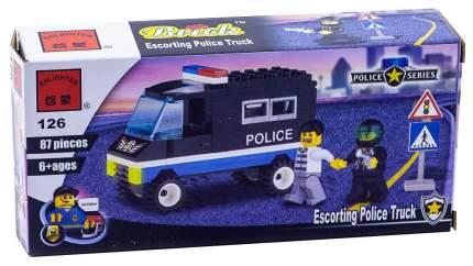 Конструктор пластиковый Brick Полицейская машина, коробка, 87 деталей