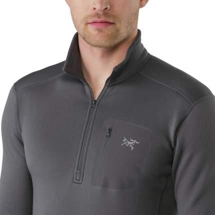 Лонгслив Arcteryx Rho AR Zip Neck 2019 мужской темно-серый, XL