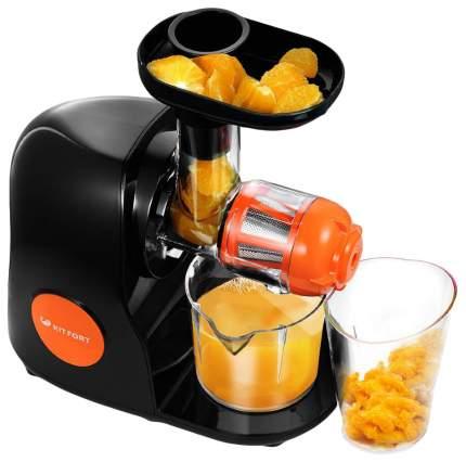 Соковыжималка шнековая Kitfort КТ-1111-2 orange/black