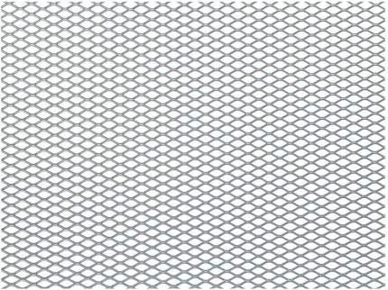 Сетка в бампер автомобиля 100х20см, серебро, ячейки 10х5,5мм, алюминий Dollex DKS-008