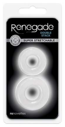 Набор из двух эрекционных колец прозрачного цвета Double Stack