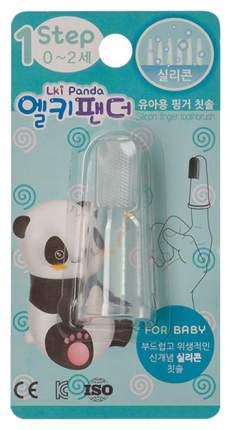 Щетка для мягкого массажа десен силиконовая на палец 0-12 мес lki panda