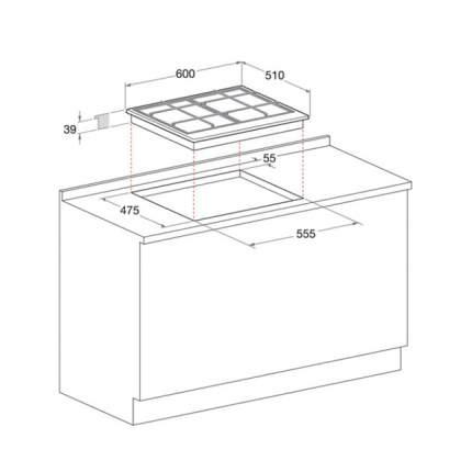 Встраиваемая газовая панель Hotpoint-Ariston PCN 641 /HA Black