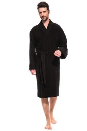 Мужской банный махровый халат Black Label ЕvaTeks 363/5, черный, 54-56