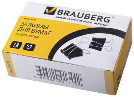 Зажимы для бумаг BRAUBERG 220561 12 шт