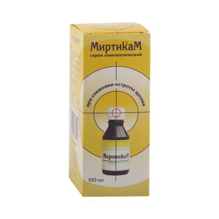 Миртикам Камелия сироп гомеопатический 100 мл