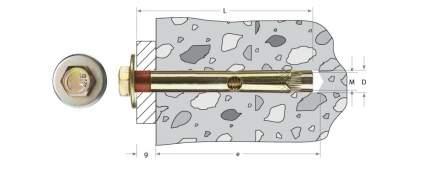 Анкерный крепежный Зубр 6 0х60мм ТФ2 90шт