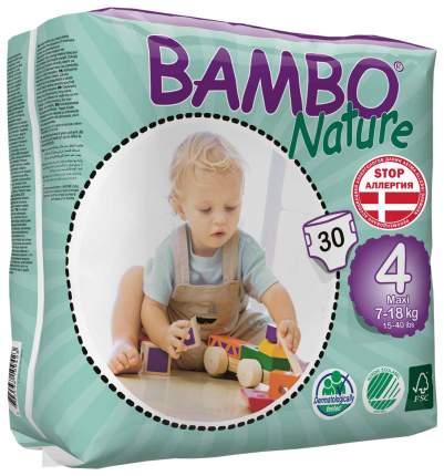 Подгузники детские Bambo Nature Maxi, 7-18 кг, 30 шт.