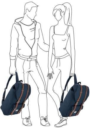 Рюкзак Herschel 10014-00007 navy/tan synthetic leather 25 л