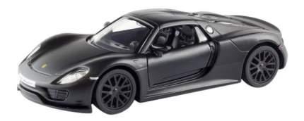 Машина металлическая Uni-Fortune 1:32 Porsche 918 Spyder инерционная черный матовый