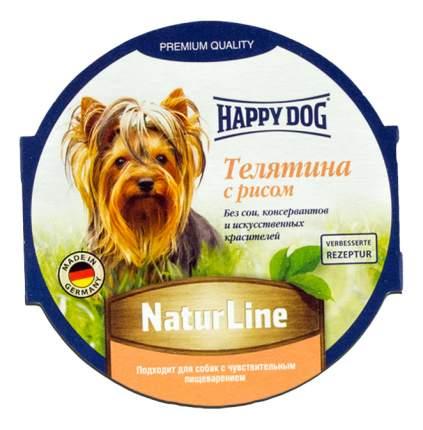 Консервы для собак Happy Dog NaturLine, телятина, рис, 85г