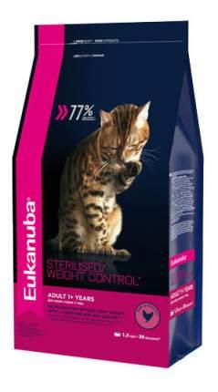 Сухой корм для кошек Eukanuba Sterilised/Weight Control, курица, 1,5кг