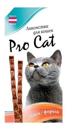 Лакомство для кошек PRO CAT Лакомые палочки лосось, форель 13,5см, 15г