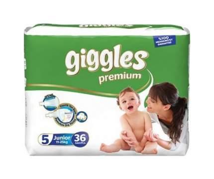 Подгузники Giggles Premium Junior 5 (11-25 кг), 36 шт.