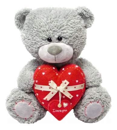 Мягкая игрушка LAVA Медвежонок Дэнни с сердцем музыкальный 24 см