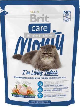Сухой корм для кошек Brit Care Monty Indoor, для домашних, курица и рис, 0,4кг