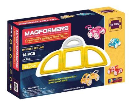 Конструктор магнитный Magformers My First Buggy yellow