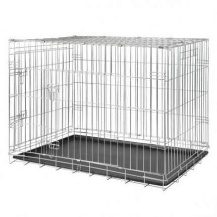 Транспортная клетка для собак TRIXIE 78х55х62 см, двухдверная, цвет серый
