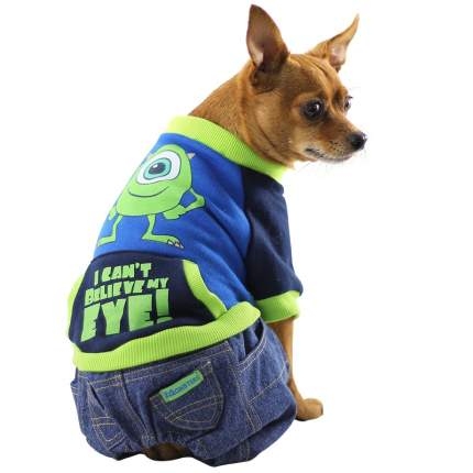 Толстовка для собак Triol Monsters размер XS мужской, синий, зеленый, длина спины 18 см