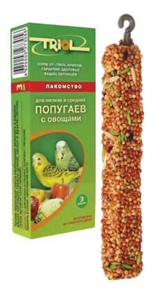 Лакомства для птиц Triol мелких и средних попугаев, с овощами, КФ-10100, 3 в 1