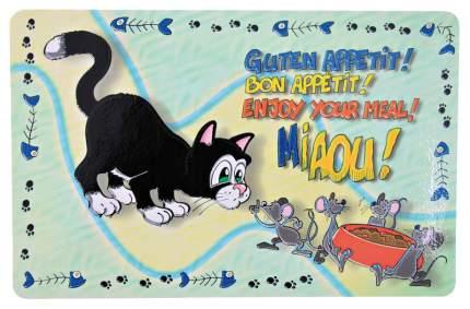 Trixie Коврик для миски Кошка, 44*28 см